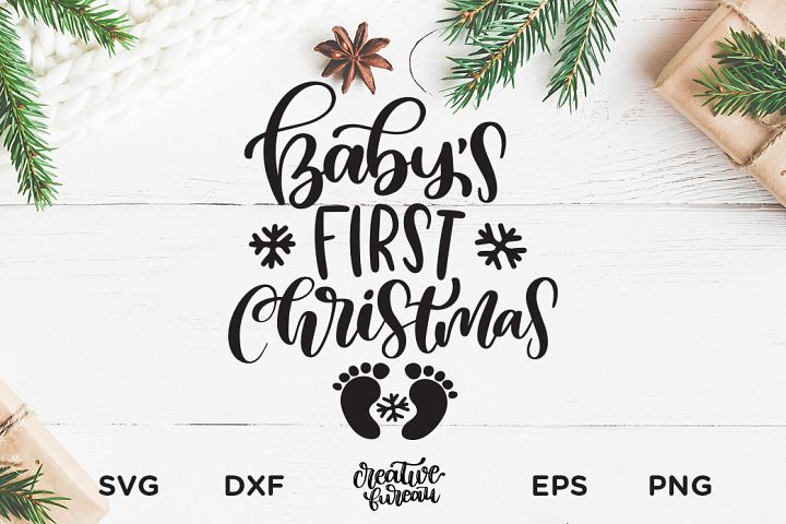 Babys First Christmas SVG DXF, First Christmas SVG DXF