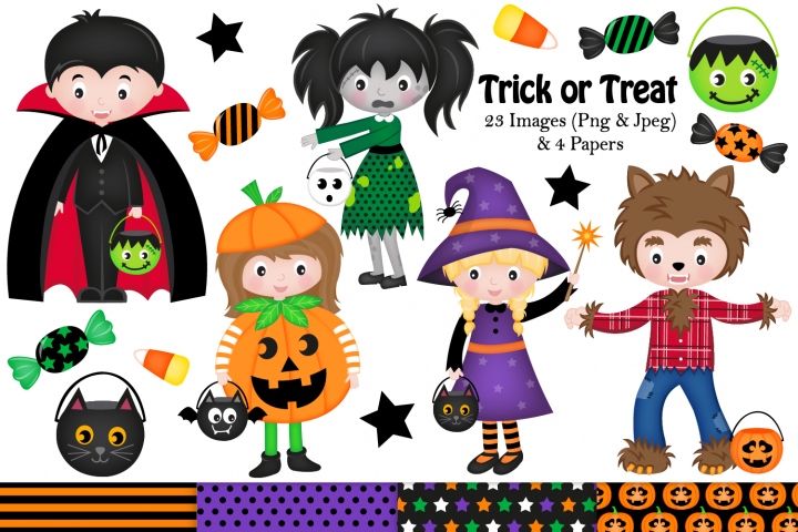 Halloween clipart, Halloween graphics & Illustrations, Witch