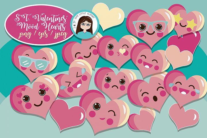 Moody Valentines hearts