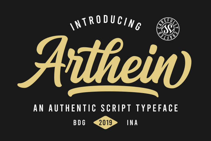 Arthein - Free Font of The Week Design1