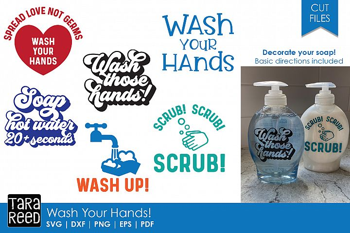 Wash Your Hands! - SVG and Cut Files for Crafters