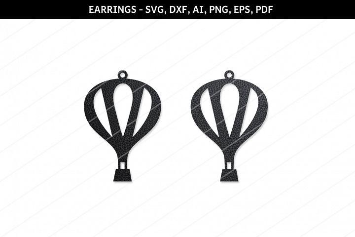 Hot air baloon svg,Cricut files,SVG cutting files,earrings