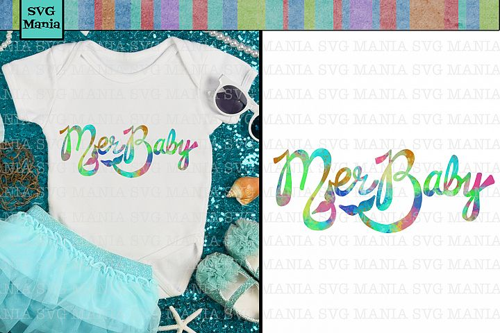 Sublimation Design for Baby Bodysuit, MerBaby Mermaid PNG