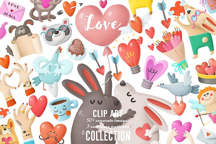 Love clip art collection