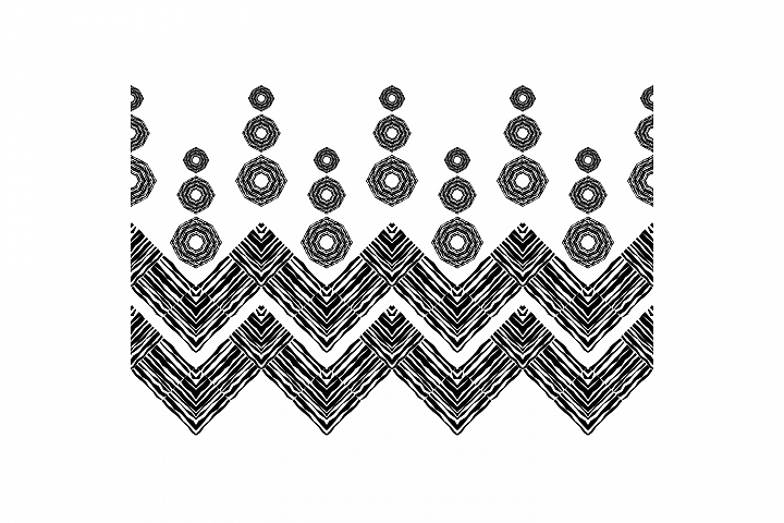 Black-white. Boho ornament. Set of 10 seamless patterns.