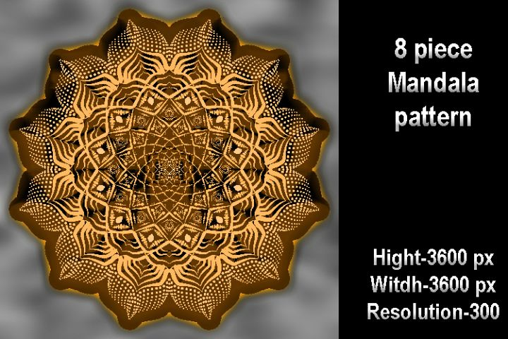 8 piece Mandala pattern