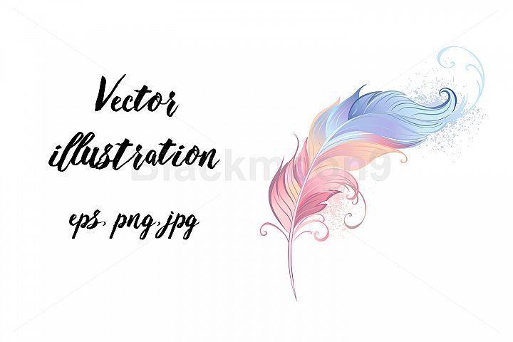 Elegant Powder Feather