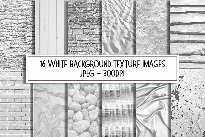 White Texture Background Images Digital Papers Bundle