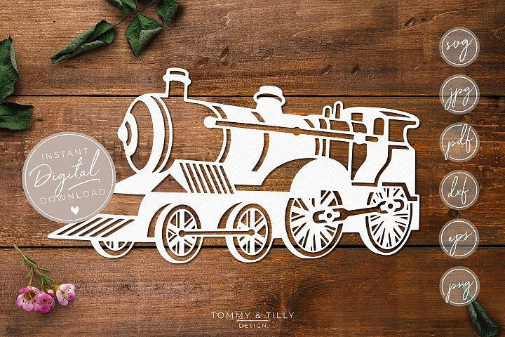 Steam Train- SVG EPS DXF PNG PDF JPG Cut File