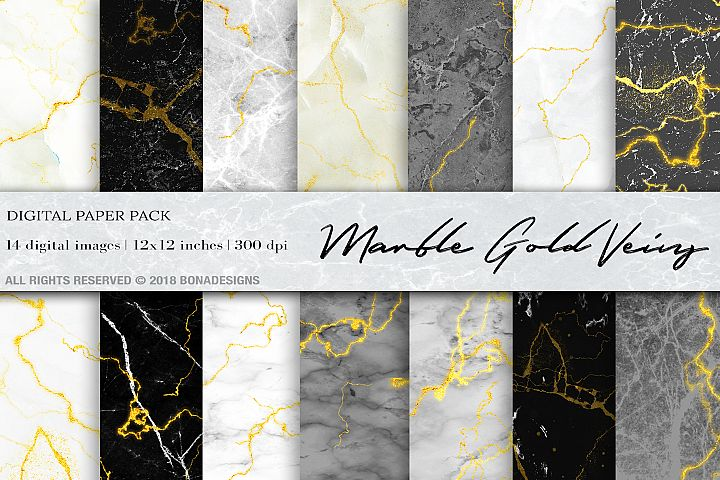 Wedding Invitation, wedding background Marble Gold Digital