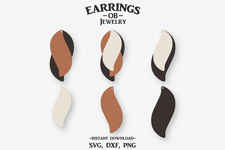 Earring Svg, Stacked, Cut File