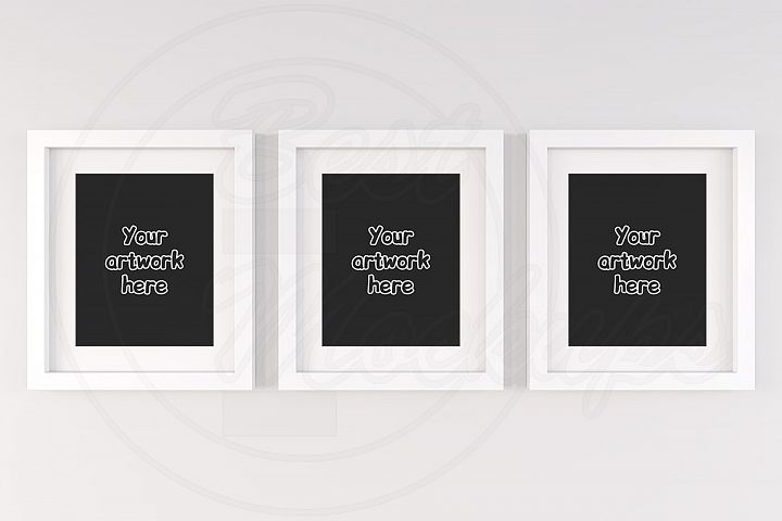 Set mockup white frame printable jpg