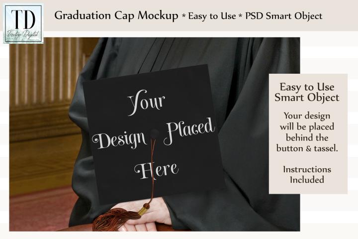 Graduation Cap Mockup - A Graduation Hat Smart Object Mockup