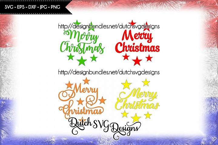 4 Text cutting files Merry Christmas, christmas svg