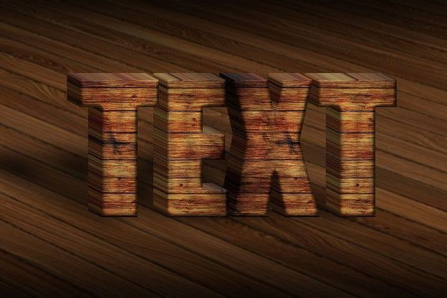 3D Wood Text Styles Kit for Photoshop
