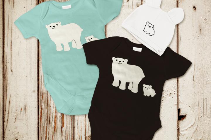 Polar Bear and Cub SVG File