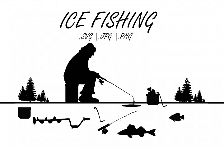 MN Ice fishing SVG, Ice fishing grahics