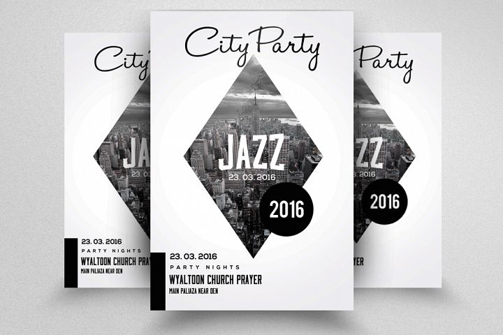 City Jazz Music Flyer