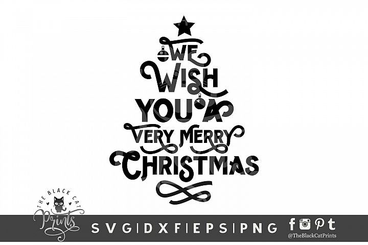 Christmas tree Quote SVG DXF EPS PNG, Christmas tree svg