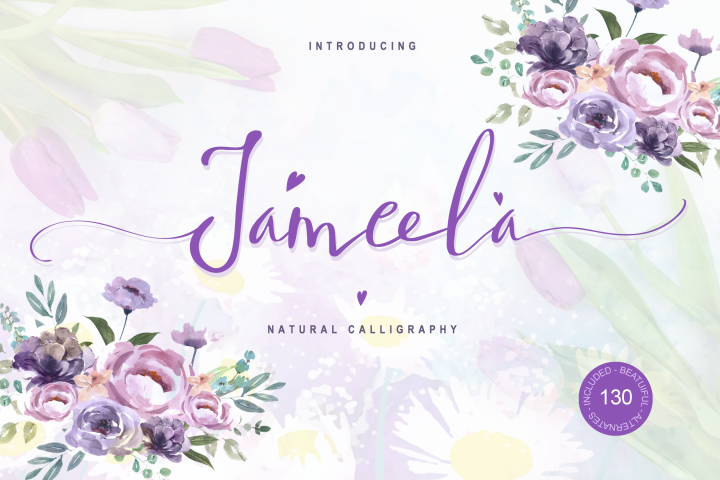 Jameela - Natural and Beautiful Script Font