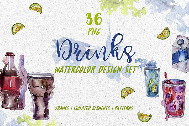 Drinks Refreshing Watercolor png