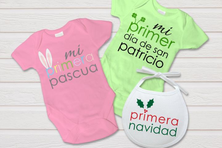 Spanish Baby Firsts Primeros de Bebé SVG File