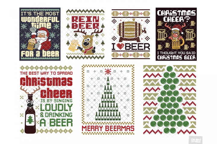 Beer Ugly Christmas Sweater SVG in SVG, DXF, PNG, EPS, JPG