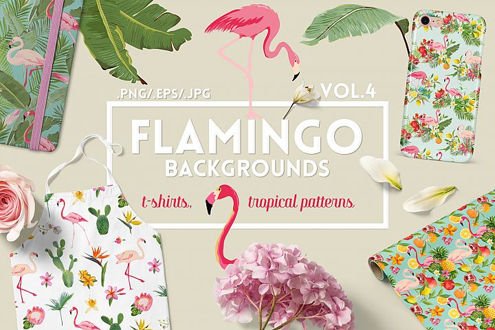 Flamingo Tropical Patterns