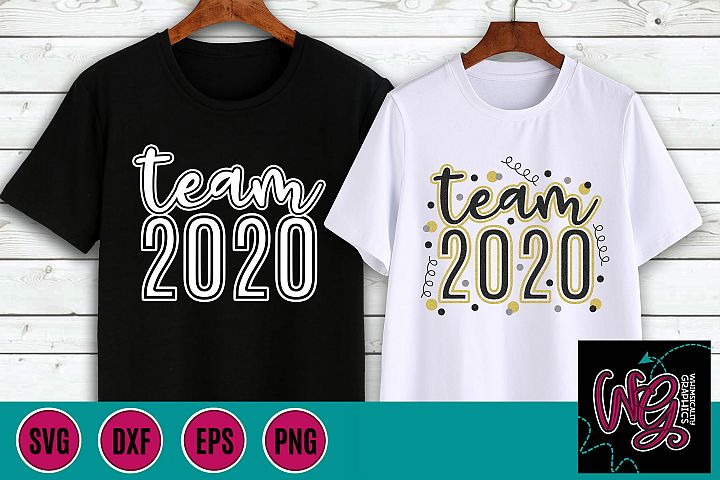 Team 2020 New Years His and Hers SVG, DXF, PNG, EPS