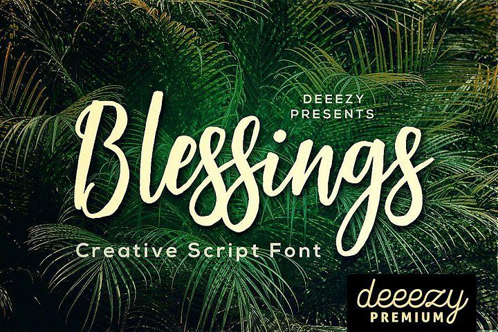Blessings Script Font