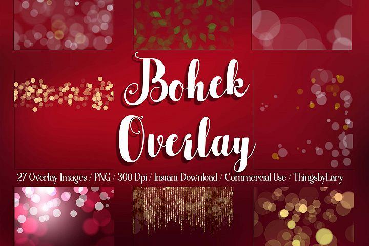 27 Bokeh Overlay Christmas Valentine Bokeh Digital Images