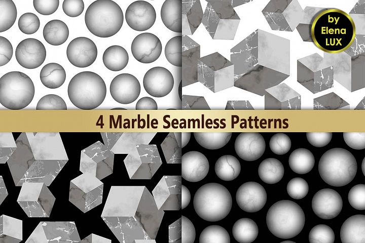 3D Marble Seamless Pattern Set