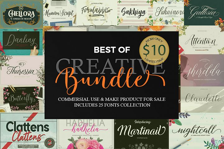 CREATIVE FONT BUNDLE COLLECTION