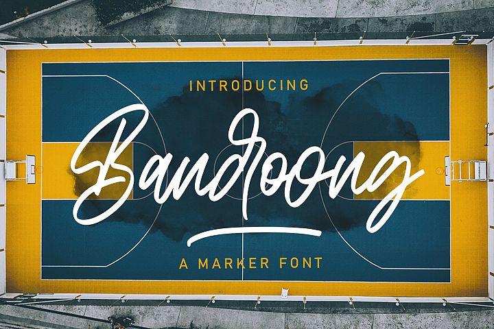 Bandoong | Modern Script Font