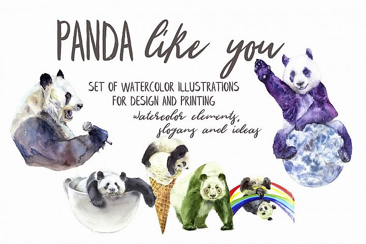 Panda Like You Watercolor Set