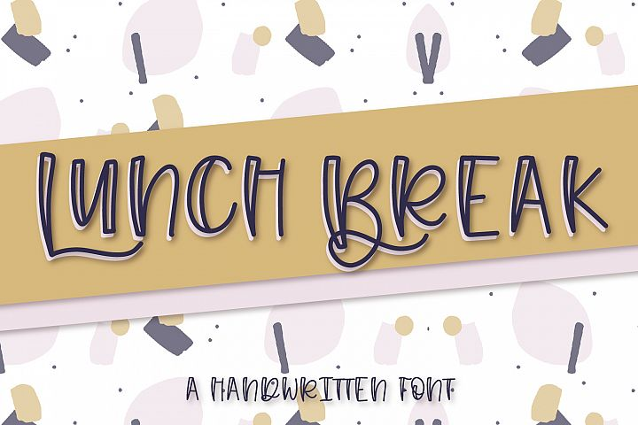 Lunch Break - A Handwritten Font