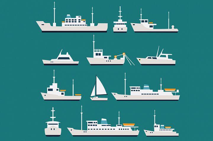 Ships flat set