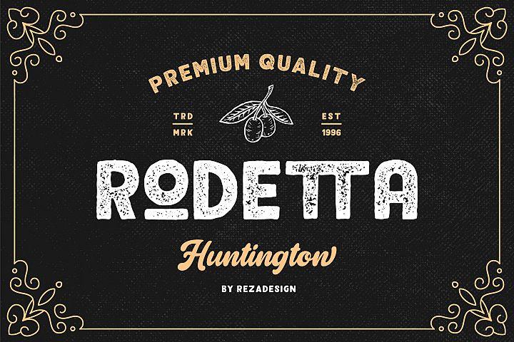 Rodetta - Sans Vintage Font
