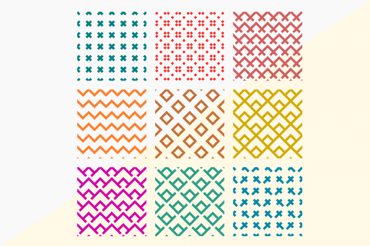 9 Seamless SVG Pattern Background