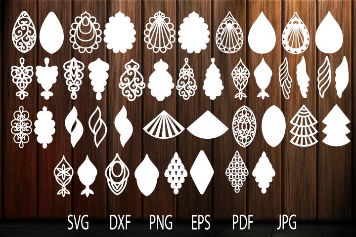 Earrings svg, Teardrop Earrings, Earrings Template