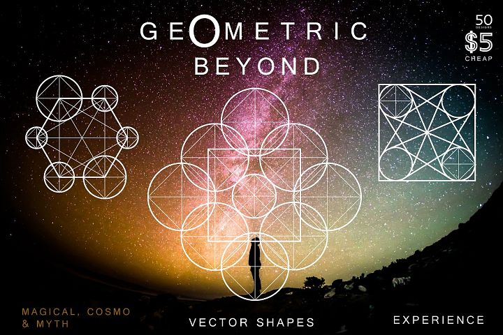 50 Geometric Symbols & Magic Shapes