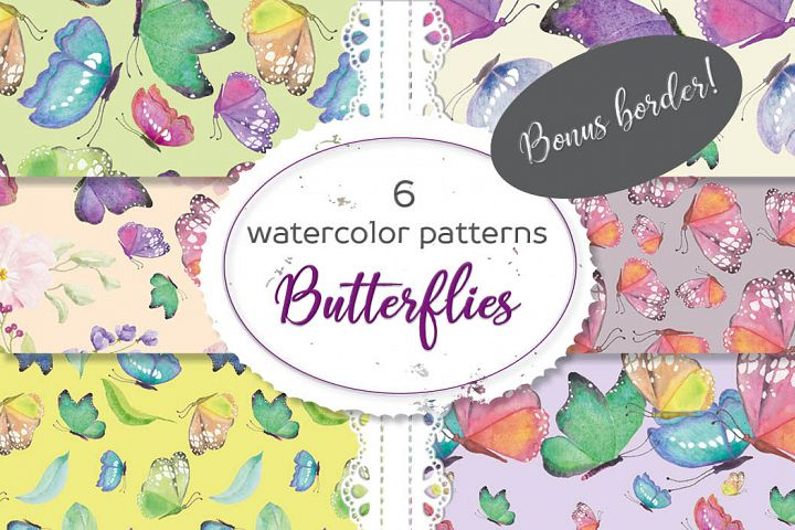 Bright, colorful butterfly patterns