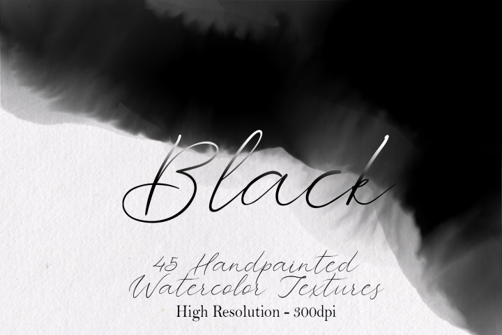 Black - 45 Watercolor Textures