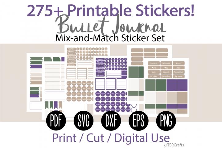 Bullet Journal and Planner Sticker Set - Forest Plum
