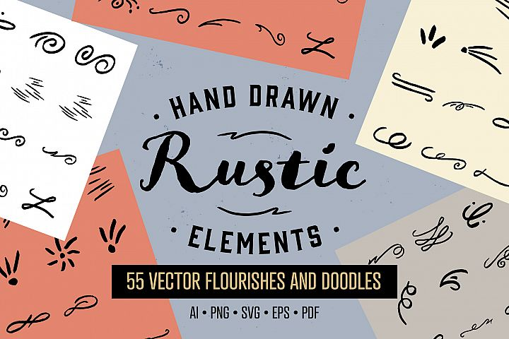 Hand Drawn Rustic Elements