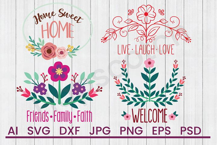 Home Sayings SVG Bundle, DXF File, Cuttable File