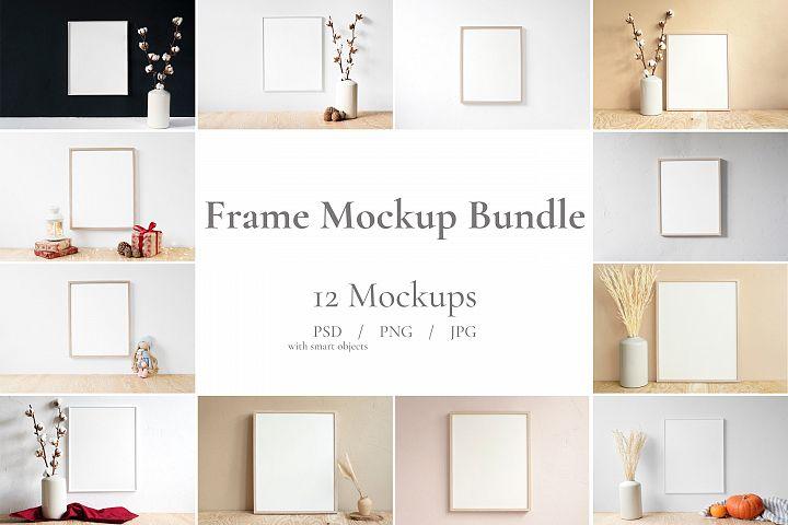 Frame Mockup Bundle, Minimalist Frame Mockup, Poster Mockup