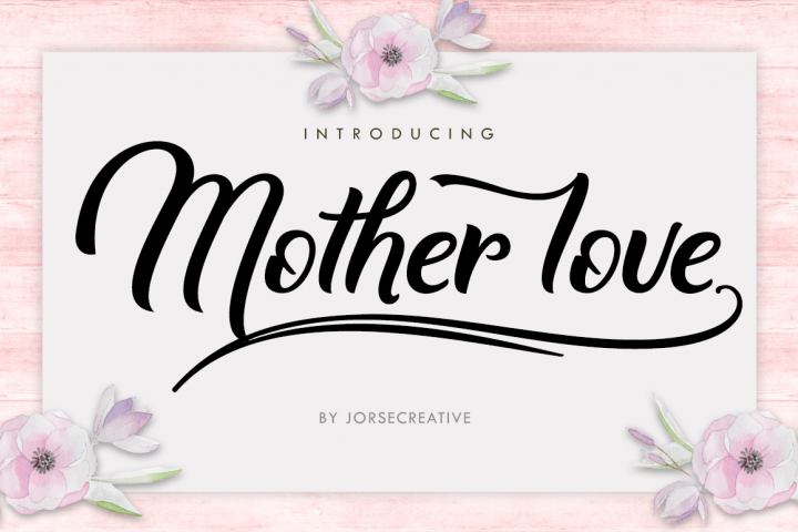 Mother love - Free Font of The Week Font