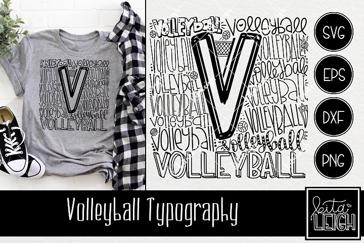 Volleyball Typography