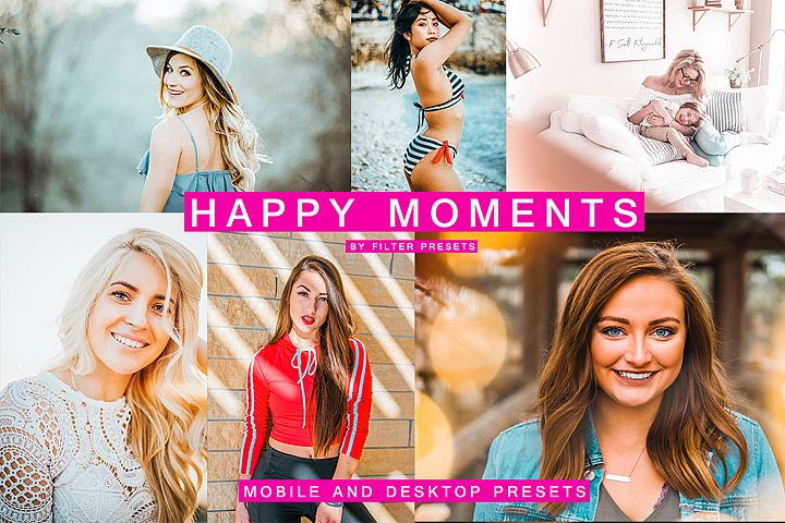 HAPPY MOMENTS 7 Lightroom Mobile Desktop Presets